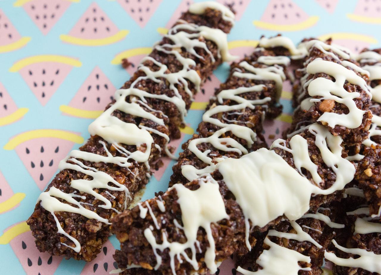 recette recipe barre de céréales muesli maison miel chocolat blog cuisine cook degustabox