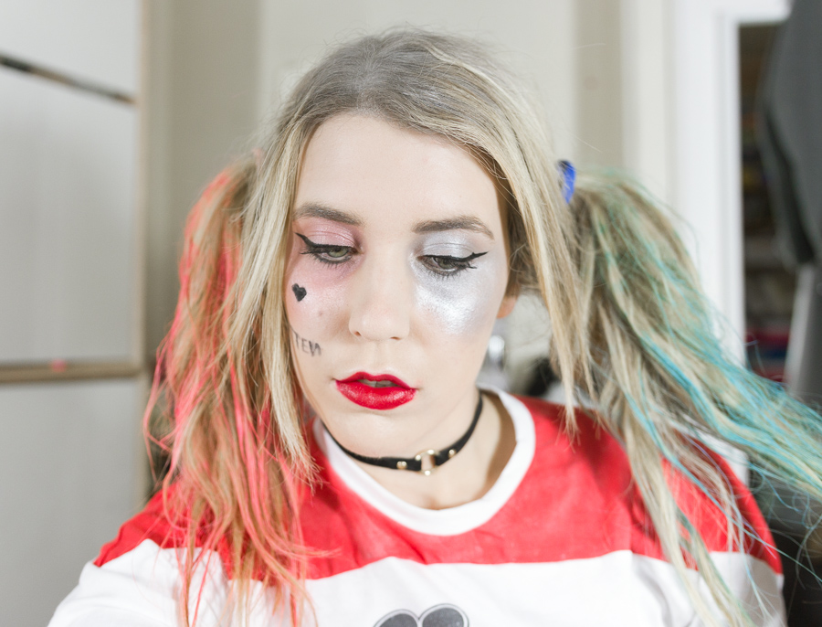 harley quinn tuto makeup halloween maquillage blog blogueuse deguisement cosplay