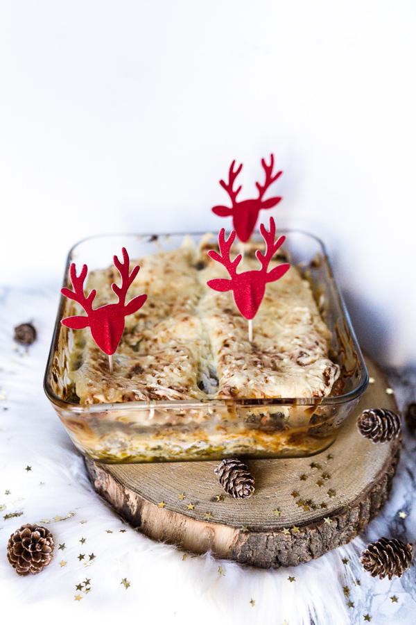 Lasagnes pesto vert et rouge