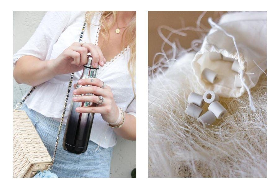 Gourde et perles de céramiques