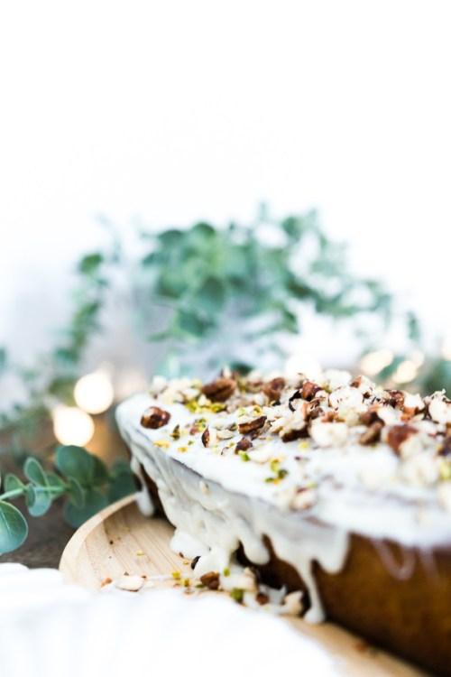 Nappage blanc carrot cake