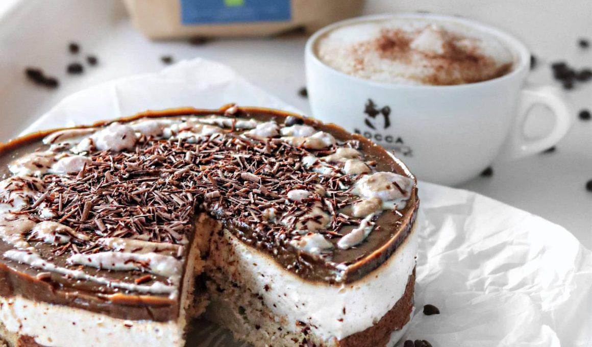 koffie cheesescake met amandelschuim zonder geraffineerde suikers