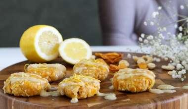 No-bake cashewnoten en mango koekjes