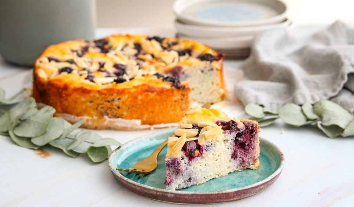 Glutenvrije ricottataart met bramen en blauwe bessen
