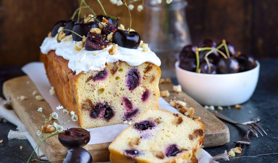 Glutenvrije cake met kersen