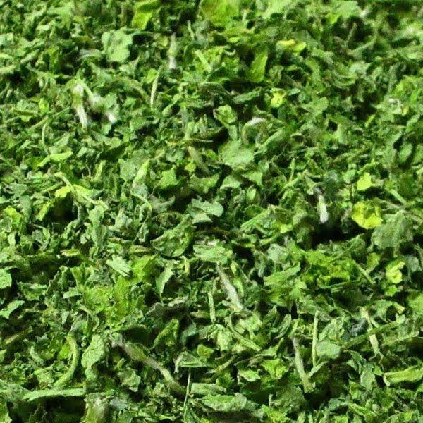 A pile of dried fenugreek leaves, kasuri methi