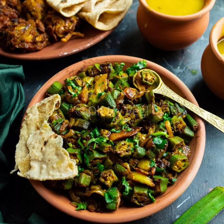 Bhindi Masala - Vegan Dry Okra Curry