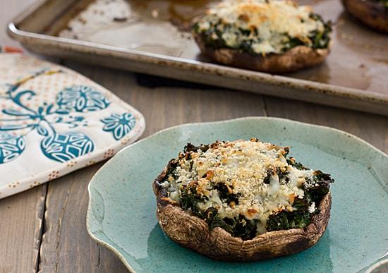 Kale-Stuffed Portobello Mushrooms
