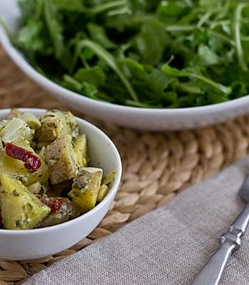 Pesto Potato Salad with Artichokes and Sundried Tomatoes
