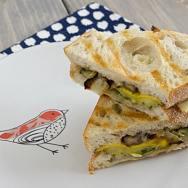 Pesto Roasted Veggie Sandwiches