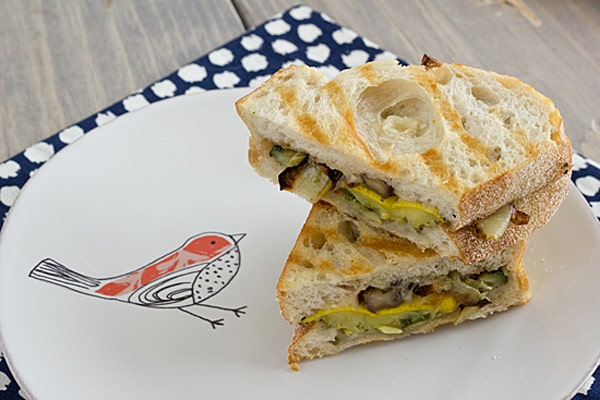 Pesto Roasted Veggie Sandwiches