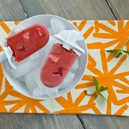 Strawberry Mojito Popsicles