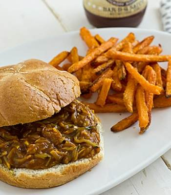 Bourbon Mango Pulled Summer Squash Sandwiches