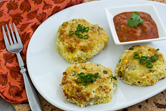 Vegan Pepper Jack Potato Corn Cakes