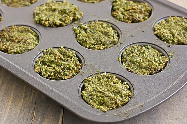 Pesto in Muffin Tin