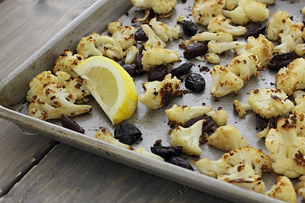 Roasted Cauliflower and Kalamata Olives