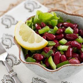 Mediterranean Kidney Bean Salad with Fork
