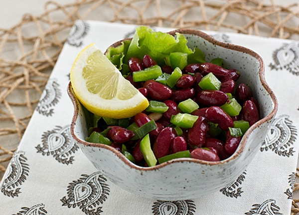 Mediterranean Kidney Bean Salad with Lemon