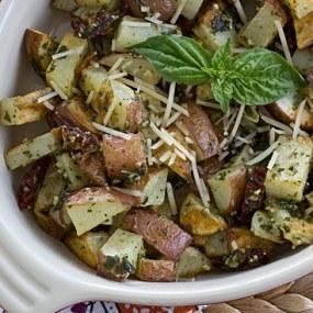 Potato Hash Made With Roasted Potatoes and Pesto