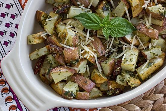 Roasted Pesto Potato Hash [close]