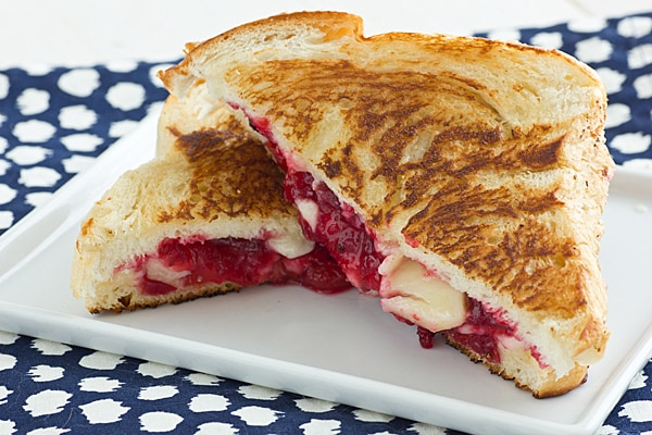 Cranberry Sauce Grilled Cheese Sandwich
