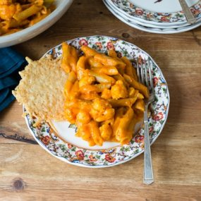 Whole Wheat Penne with Butternut Squash and Roasted Red Pepper Sauce Recipe
