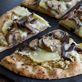 Wild Mushroom & Potato Pizza Recipe