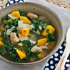 Seitan, Kale & Butternut Squash Stew [Top]