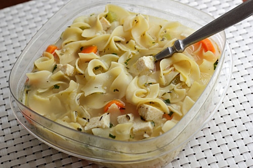 Vegetarian Chicken Noodle Soup Leftovers
