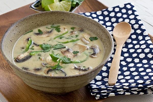 Coconut Lime Tofu Soup