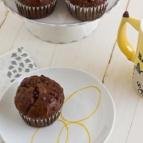Dark Chocolate Banana Breakfast Muffins [Close]