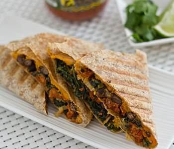 Kale and Sweet Potato Quesadilla