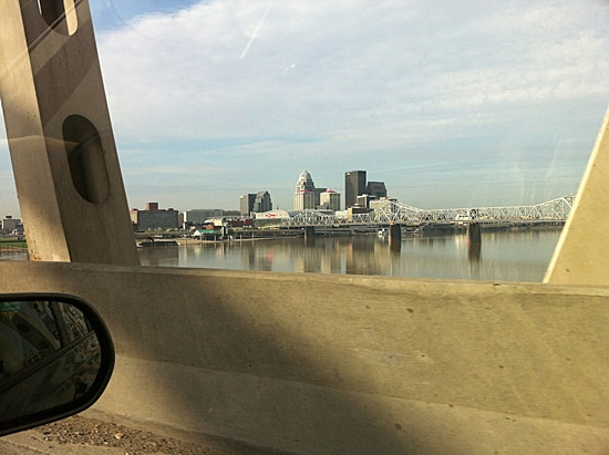 Louisville from the Car