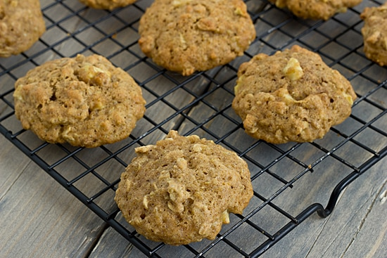 Apple Cinnamon & Quinoa Muffin Top Cookies on Rack