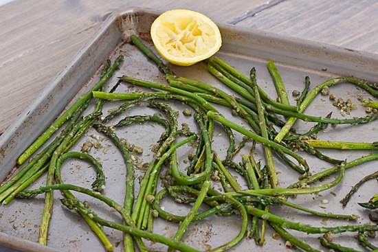 Roasted Asparagus with Capers and Lemon Juice