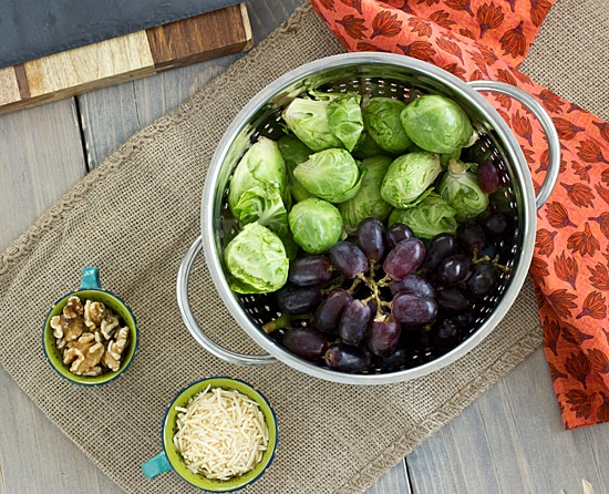 Brussels Sprout & Grape Galette Ingredients