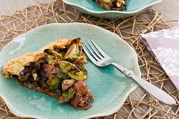 Brussels Sprout Grape Galette Recipe