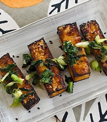 Oven Roasted Tofu and Bok Choy