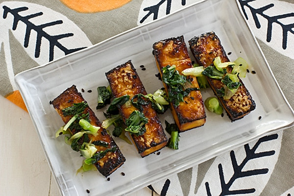 Oven Roasted Tofu and Bok Choy