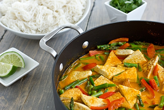 Thai Red Curry in Skillet