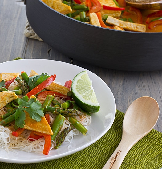 Thai Red Curry with Asparagus & Tofu