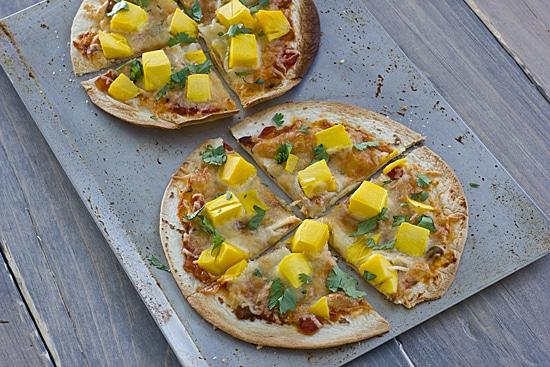 Mango Cilantro Pizzas