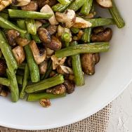 Roasted Green Beans and Mushrooms with Walnuts
