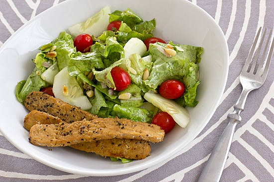 Salad with Lemon Caper Dressing