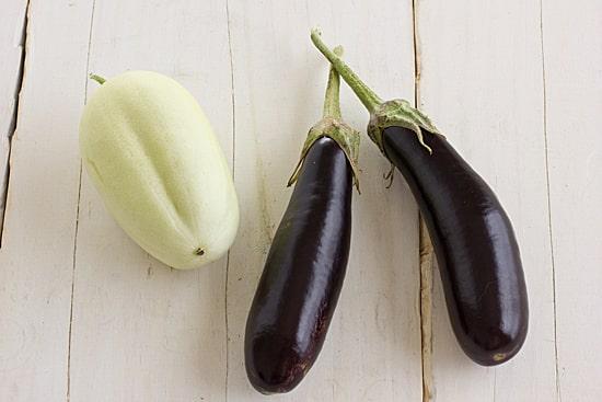 Little Finger Eggplant & Dragon's Egg Cucumber