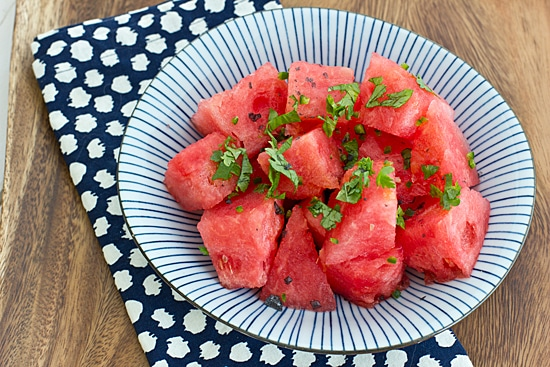 Watermelon with Cilantro & Jalapeno