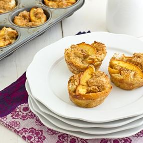Brown Sugar Peach French Toast Cups Recipe