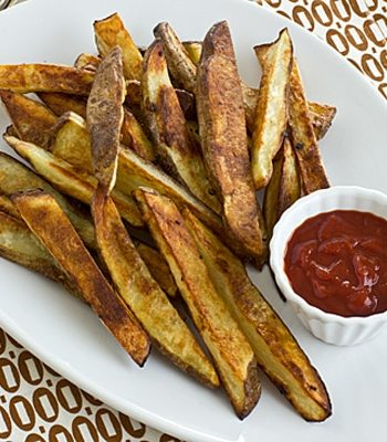 Garlicky Oven Fries with Harissa Ketchup