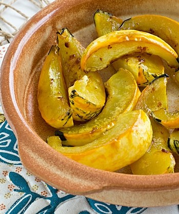 Maple Chipotle Squash Wedges