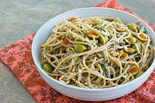Pasta with Olives & Walnuts